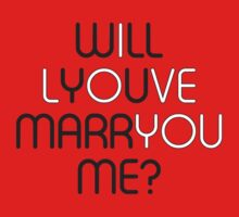 Will You Marry Me? Kids Tee