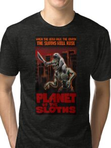 Planet Of The Sloths Tri-blend T-Shirt