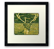 Pixel Deer Framed Print