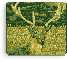 Pixel Deer Canvas Print