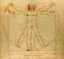 Iconic Leonardo da Vinci Vetruvian Man by pdgraphics