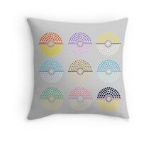 Eeveelution Pokeballs (Light) Throw Pillow