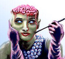 Zombie Hepburn by Chris Moet