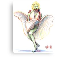 Undead Marilyn Monroe Canvas Print