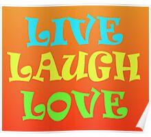Retro Live Laugh Love Poster