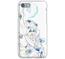 Cancer with Waterlilies and Geraniums iPhone Case/Skin