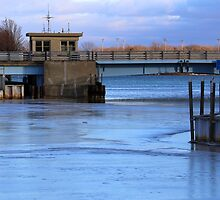 Frozen Marina with Drawbridge 1 by marybedy