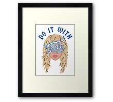 Do it with Charlotte Flair Framed Print