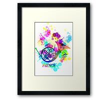 Rainbow French Horn Music Themed Graphic Framed Print