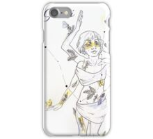 Gemini with Ferns and Lily of the Valleys iPhone Case/Skin