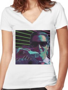 American Psycho calling Women's Fitted V-Neck T-Shirt