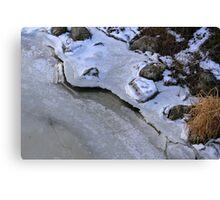 Frozen Shoreline Saint Clair 2 Canvas Print
