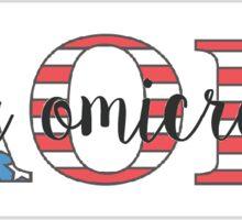 American Alpha Omicron Pi Sticker