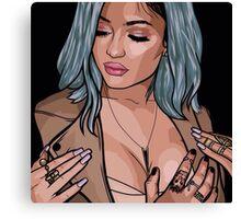 Kylie Jenner Vector Canvas Print