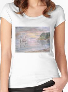 Calm Sunset Women's Fitted Scoop T-Shirt