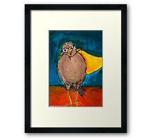 Steve Was Not Like the Other Birds Framed Print