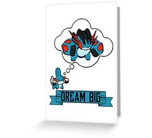 Mudkip Dream Big Greeting Card