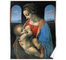 Leonardo da Vinci Madonna Litta Poster