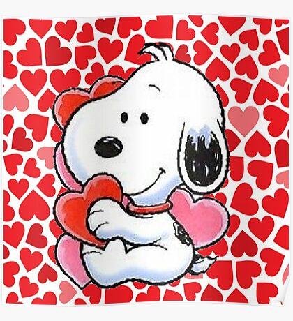 snoopy valentine  Poster