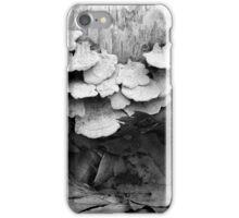 Fallen Birch and Fungi 2 BW iPhone Case/Skin