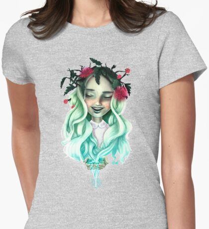 Natural Womens Fitted T-Shirt