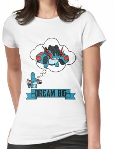 Mudkip Dream Big Womens Fitted T-Shirt