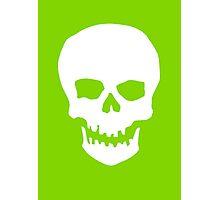 Neon Green Skull Silhoutte Photographic Print
