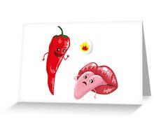 Chili and tongue Greeting Card