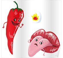 Chili and tongue Poster