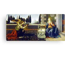 Leonardo da Vinci Annunciation Canvas Print