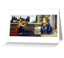 Leonardo da Vinci Annunciation Greeting Card