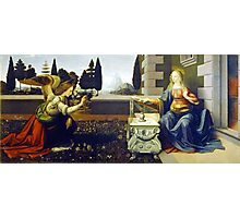Leonardo da Vinci Annunciation Photographic Print