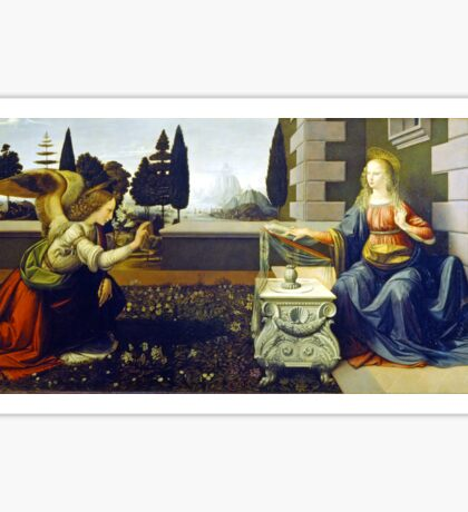 Leonardo da Vinci Annunciation Sticker