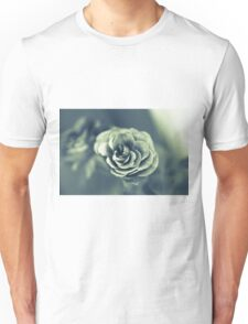 Red Rose in Grey Unisex T-Shirt