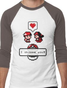 Pokemon Valentine I Choose You!  Men's Baseball ¾ T-Shirt
