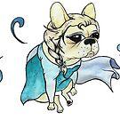 French Bulldog dressed as Elsa by Liddle-Ideas