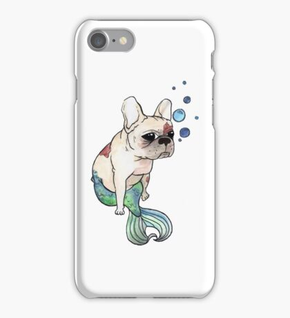 French Bulldog x Mermaid (green) iPhone Case/Skin