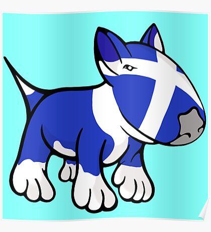 Scottish Bull Terrier Poster