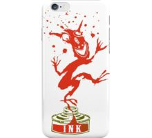 Red Ink Bottle Imp iPhone Case/Skin