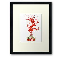 Red Ink Bottle Imp Framed Print