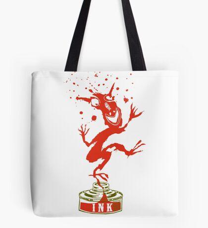 Red Ink Bottle Imp Tote Bag