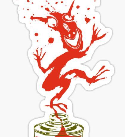 Red Ink Bottle Imp Sticker
