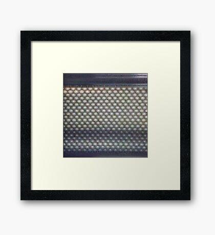 Hexagon mesh 3 - Phlox Framed Print