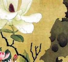 Chen Hongshou Magnolia and Erect Rock Sticker