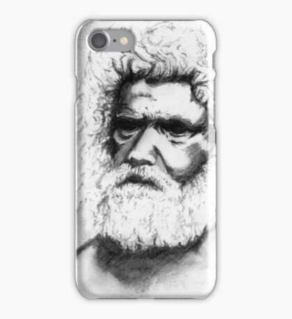 Tribal Elder - Australian Aborigine Pencil Drawing iPhone Case/Skin