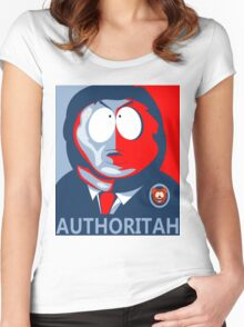 Respect my Authoritah Women's Fitted Scoop T-Shirt