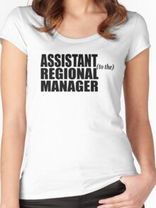 Assistant To The Regional Manager Women's Fitted Scoop T-Shirt