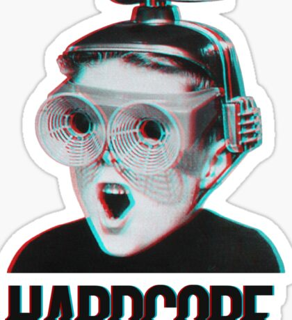 Hardcore Meme Boy (3D vintage effect) Sticker