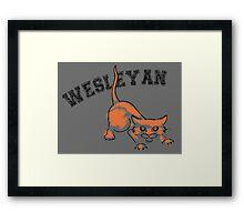 Wesleyan Bobcat Framed Print