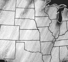 Map of the USA Chalkboard art US Map Sticker